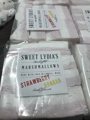 Strawberry Banana Marshmallows - Sweet Lydia