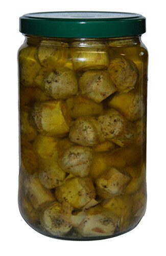 Calabria Sapori Artichokes hearts glass 1kg