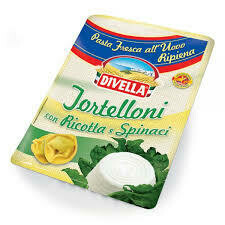 Divella  fresh tortelloni ricotta and spinach 250g