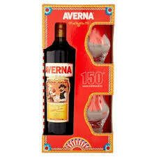 Amaro Averna 70cl  + 2 amaro glasses