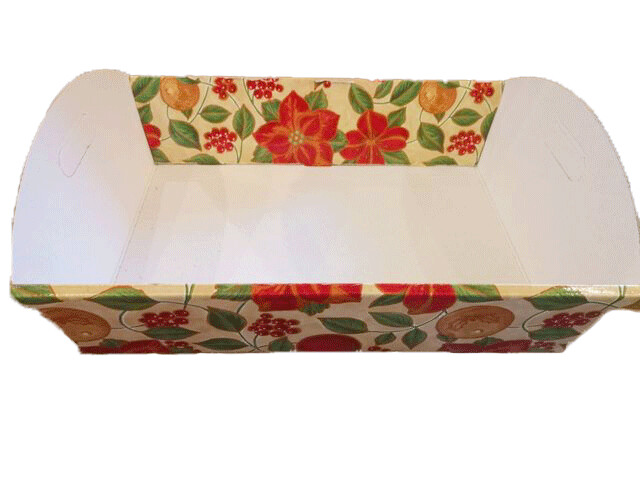 Cardboard hamper with flower decorations   47x33
