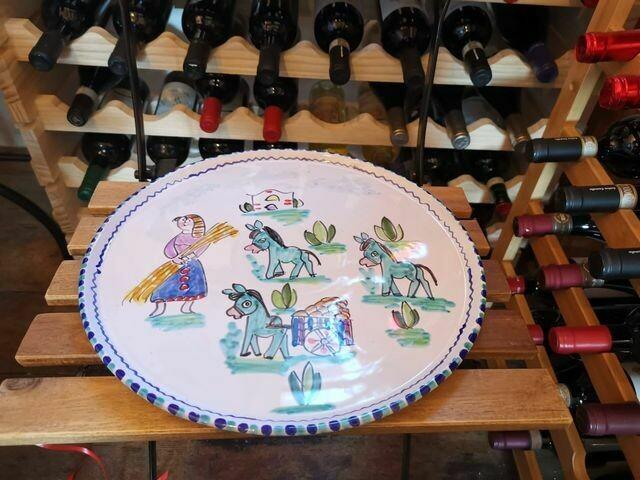 Ceramic plate for pizza from Vietri sul Mare (Amalfi Coast)