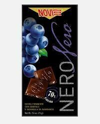 Novi Dark chocolate with blueberries and almonds 75g