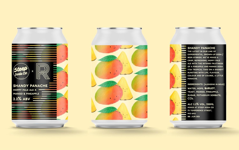 Steep Soda Shandy Panache (Hoppy Pale x Mango & Pineapple) 2.2%