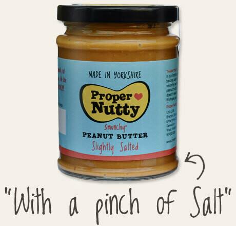 Proper Nutty (Slightly Salted) Peanut Butter 340g