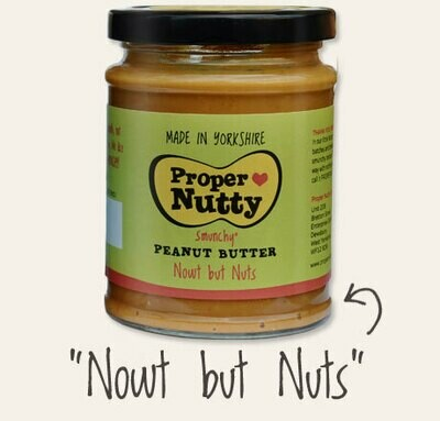 Proper Nutty (Nowt But Nuts) Peanut Butter 340g