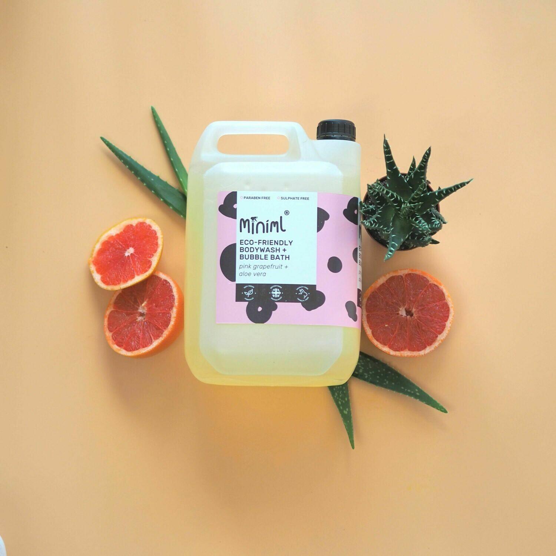 Bodywash + Bubble Bath Refill (Pink Grapefruit + Aloe Vera)