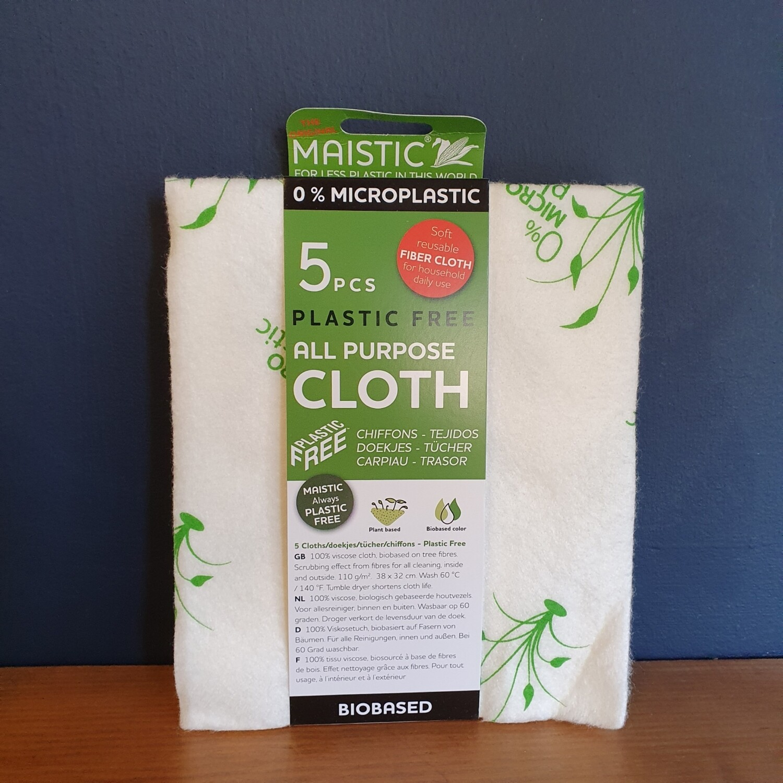 Plastic Free All Purpose Cloth (5 Pieces)