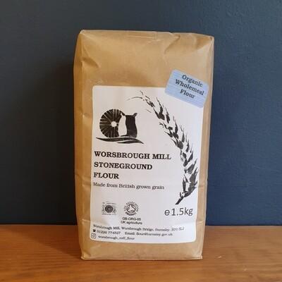 Worsbrough Mill Organic Stoneground Wholemeal Flour 1.5kg