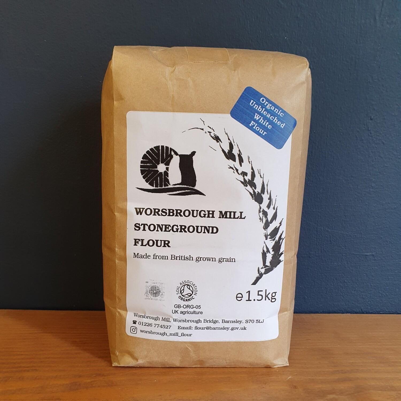 Worsbrough Mill Organic Stoneground White Flour 1.5kg
