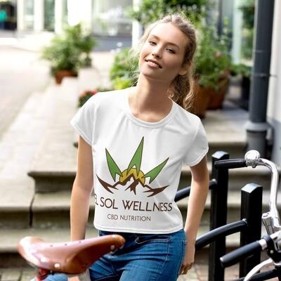 El Sol Wellness All-Over Print Crop Tee