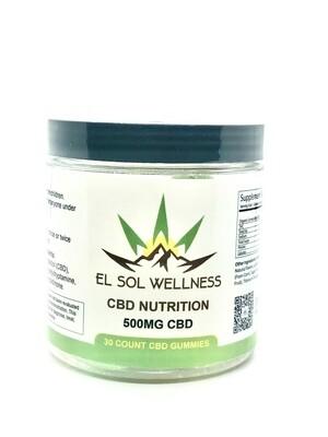 El Sol Wellness Full Spectrum CBD Gummies 500mg - 30ct