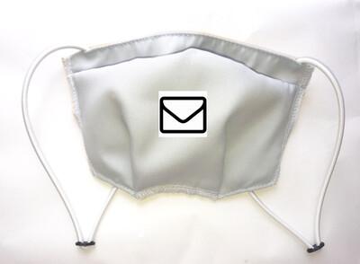 Masque réglable antibactérien lavable 3 couches GRIS