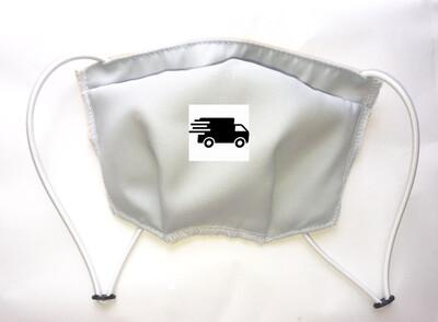 Masque réglable antibactérien lavable 3 couches -GRIS