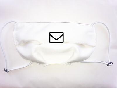 Masque réglable antibactérien lavable 3 couches BLANC
