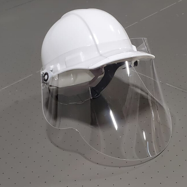 PROTECTIVE HARD HAT ATTACHMENT FACE SHIELD