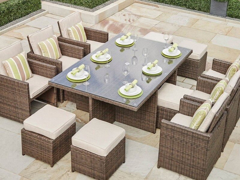 Alana 11 Piece Dining Set with Cushions