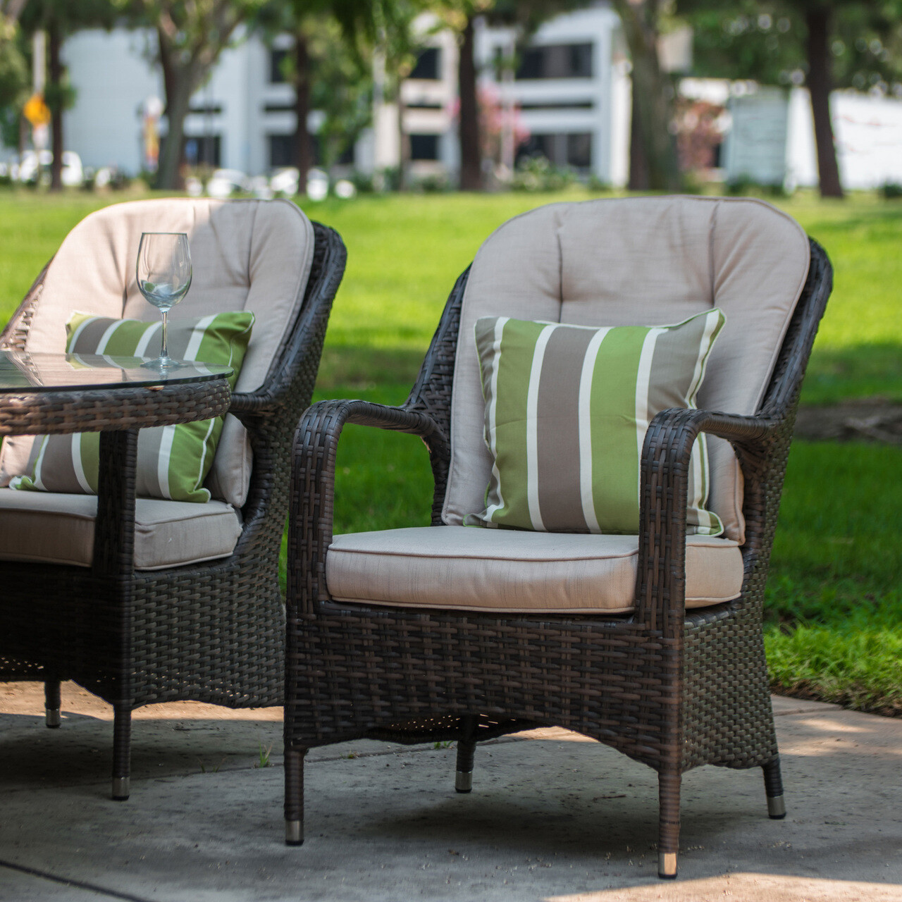 Wick's Lumbar Supported High Back Chairs
