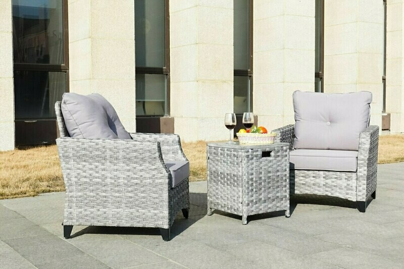 3-piece Single Chair and Table  Set