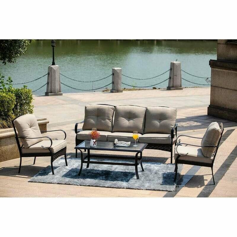 5-piece Outdoor Living Metal Patio Set