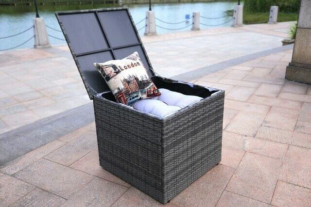 Wicker Patio Storage Box