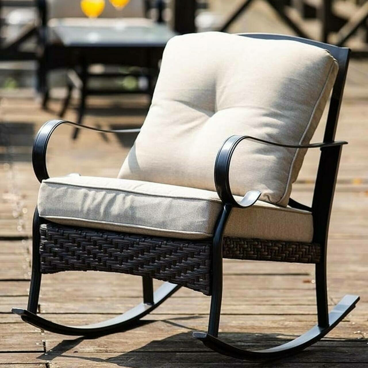 2-piece Outdoor Freestyle  Rocking Chairs Set