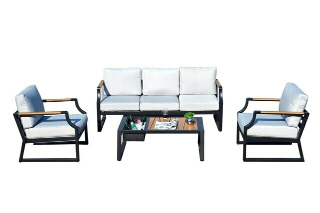 4-Piece  Outdoor Sofa with Cushions