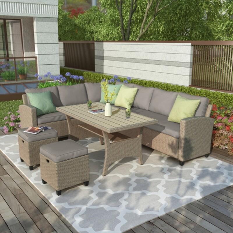 5 Piece U_STYLE Patio Furniture Set