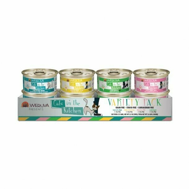 Weruva Cats In The Kitchen Cuties Variety 12 pack (3oz)