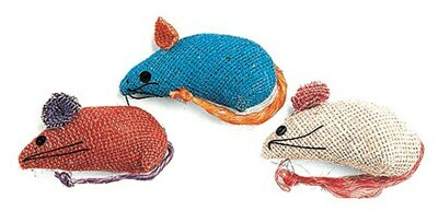 Ethical Burlap Mice 3-pack
