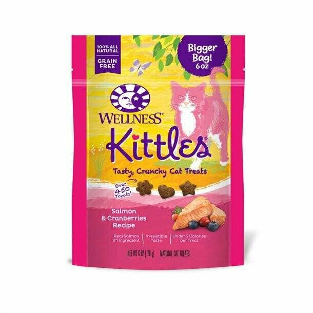 Wellness Kittles Salmon Cranberry Treat 6oz