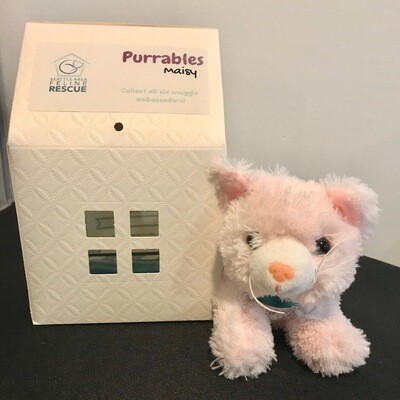 Purrables Stuffed Kitty - Maisy (Pink)