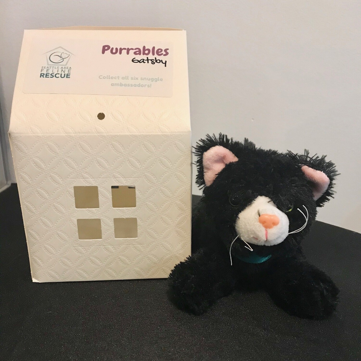 Purrables Stuffed Kitty - Gatsby (Black)