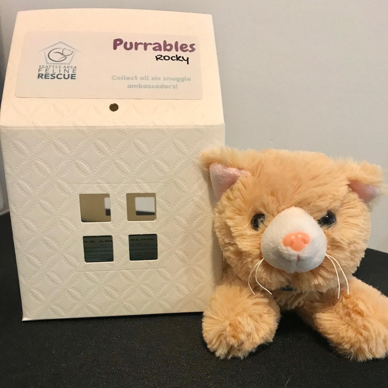 Purrables Stuffed Kitty - Rocky (Orange)