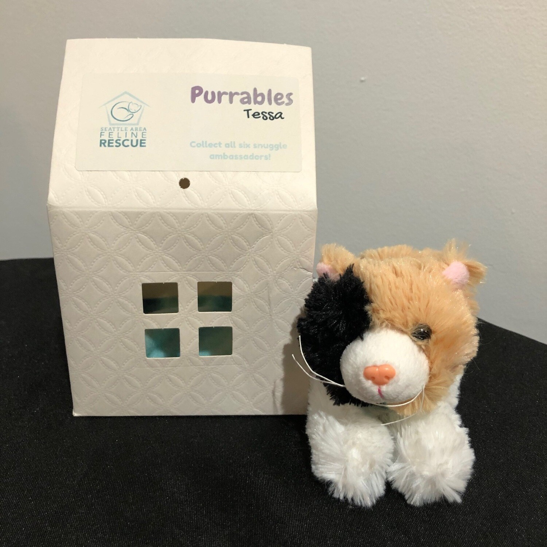 Purrables Stuffed Kitty - Tessa (Calico)