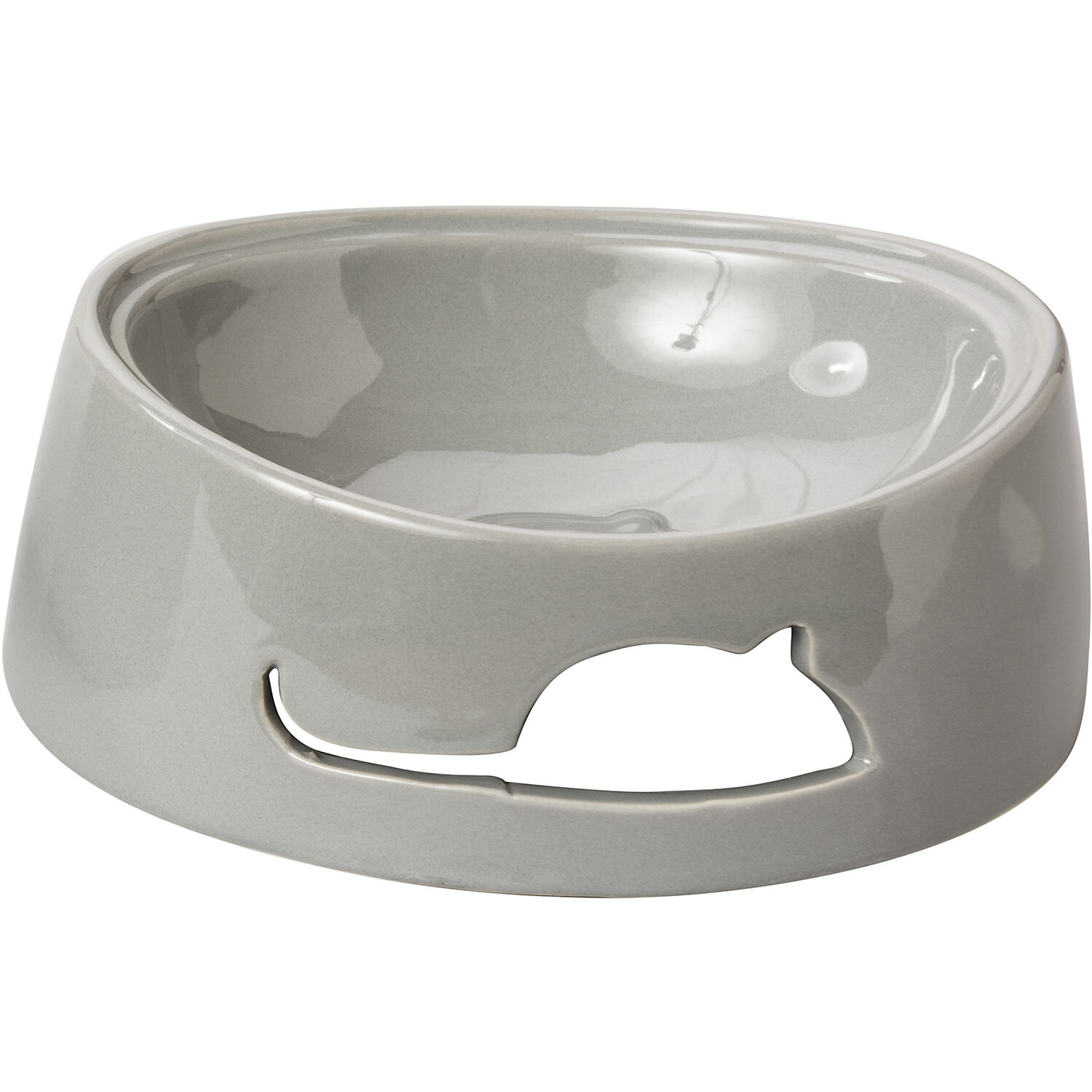 Bailey Mouse Cat Dish - Gray