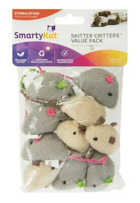 Skitter Critters Catnip Mouse Value Pack