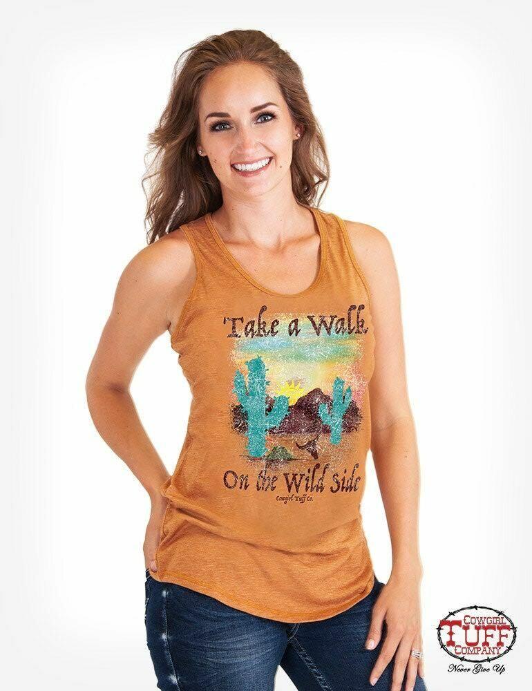 Racerback Tank Orange- Wild Side