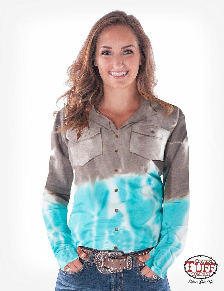 Brown/Turquoise Tie Dye Sport Jersey