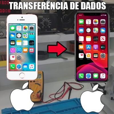 Transferência de dados iPhone para iPhone.