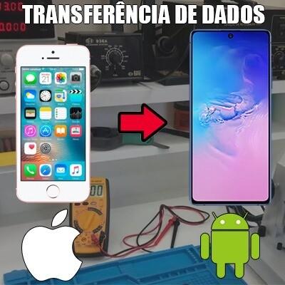 Transferência de dados iPhone para Android