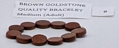 CoDS Vaxxinator Brown Goldstone Quality Bracelet Medium (Adult)