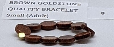 CoDS Vaxxinator Brown Goldstone Quality Bracelet Small (Adult)