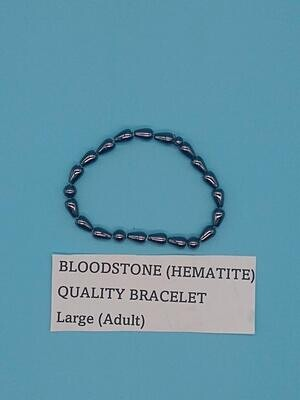 CoDS Vaxxinator Bloodstone (Hematite) Quality Bracelet Large (Adult) Variation 1