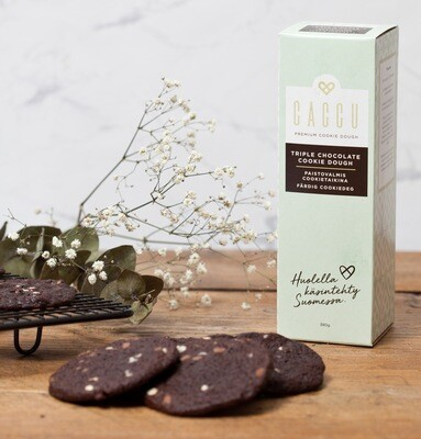 Caccu Triple Chocolate Cookietaikina 380 g (18.6. toimitus)