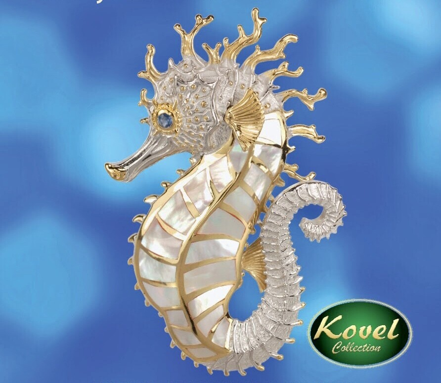 Kovel Collection Spikey Seahorse Pendant