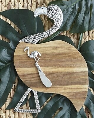 Tropical Flamingo Cheese Board