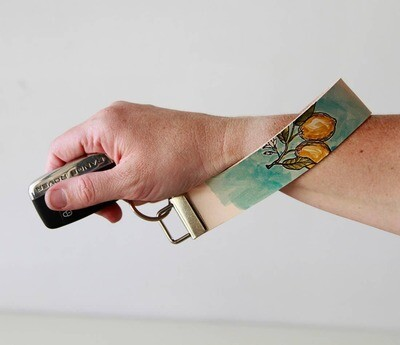 Leather Key Ring Wristlets