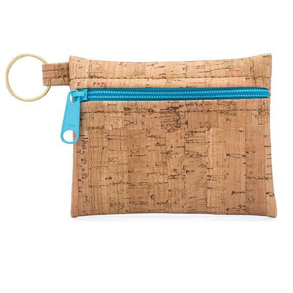 Zip Cork Key Chain Pouch