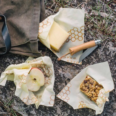 Reusable Bee's Wrap Food Wraps  Featured in Food & Wine, O Magazine, Real Simple